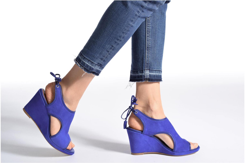 Sandalen Made by SARENZA Frida Banana #9 blau ansicht von unten / tasche getragen