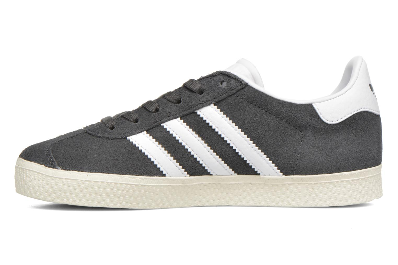 Baskets Adidas Originals Gazelle C Gris vue face