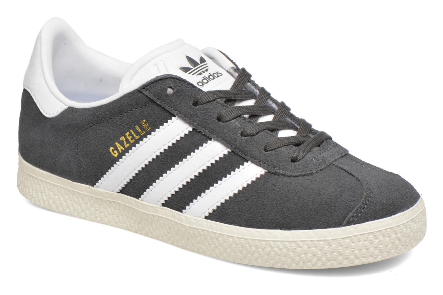 Baskets Adidas Originals Gazelle C Gris vue détail/paire