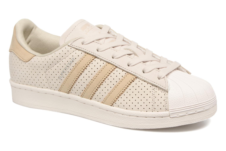 Baskets Adidas Originals Superstar Fashion J Beige vue détail/paire