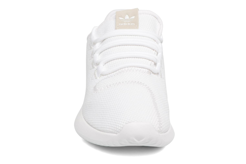 Sneaker Adidas Originals Tubular Shadow J weiß schuhe getragen