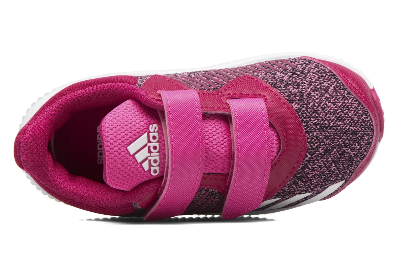 Baskets Adidas Performance Fortarun Cf I Rouge vue gauche
