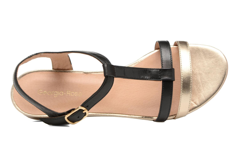 Sandales et nu-pieds Georgia Rose Tabilo Noir vue gauche