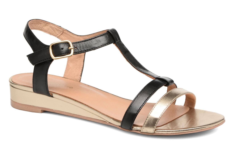 Sandaler Georgia Rose Tabilo Sort detaljeret billede af skoene
