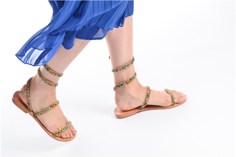Sandales et nu-pieds Les Tropéziennes par M Belarbi Olga 2 Noir vue bas / vue portée sac