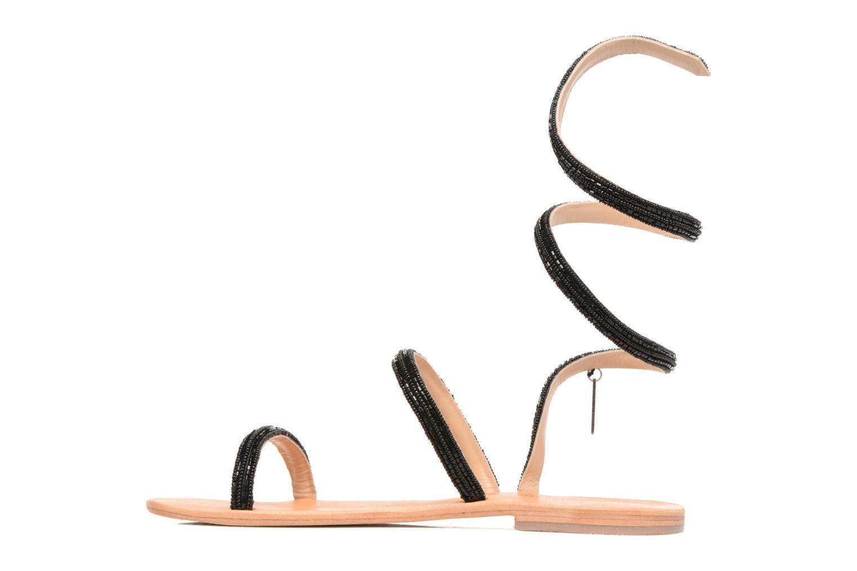 Sandales et nu-pieds Les Tropéziennes par M Belarbi Olga 2 Noir vue face