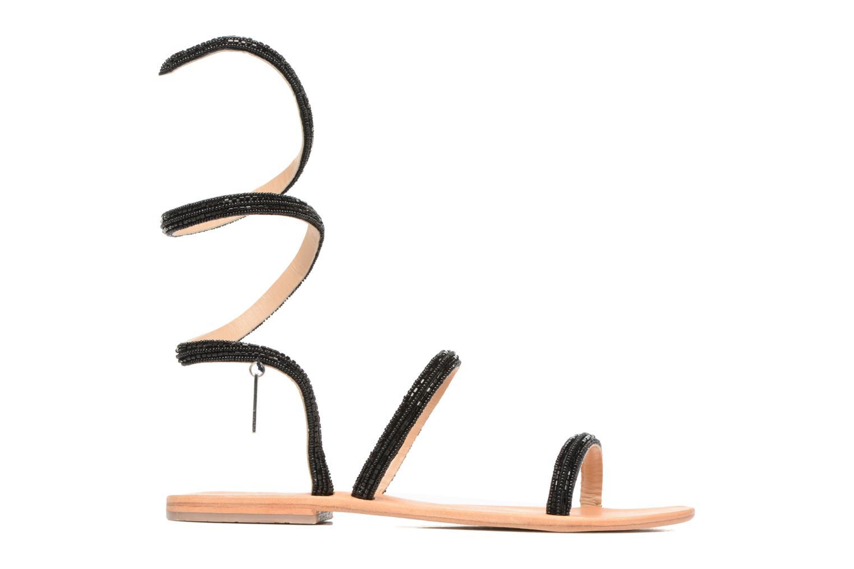 Sandales et nu-pieds Les Tropéziennes par M Belarbi Olga 2 Noir vue derrière