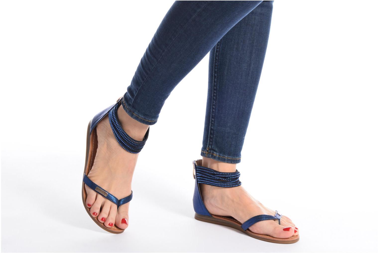 Sandales et nu-pieds Les Tropéziennes par M Belarbi Ginkgo Bleu vue bas / vue portée sac