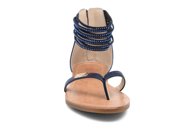 Sandales et nu-pieds Les Tropéziennes par M Belarbi Ginkgo Bleu vue portées chaussures