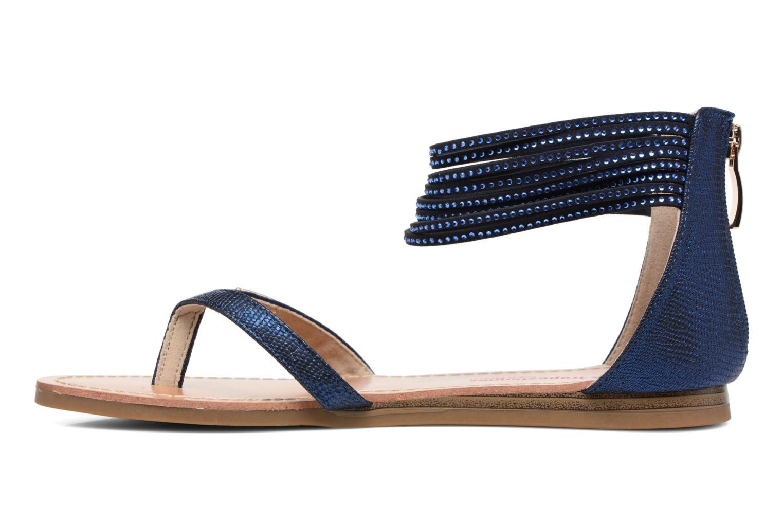Sandales et nu-pieds Les Tropéziennes par M Belarbi Ginkgo Bleu vue face