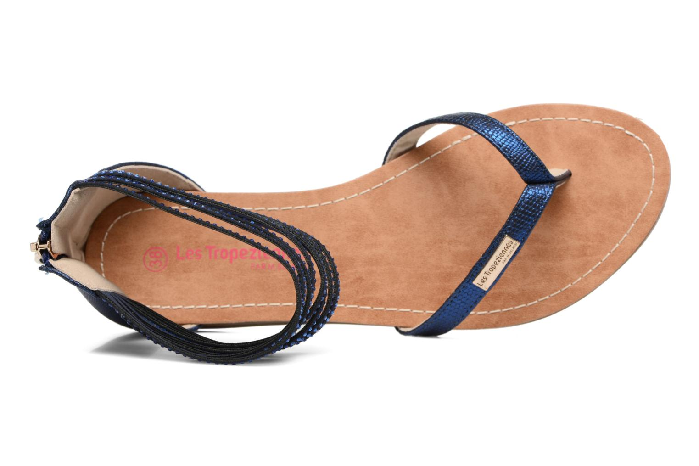 Sandales et nu-pieds Les Tropéziennes par M Belarbi Ginkgo Bleu vue gauche