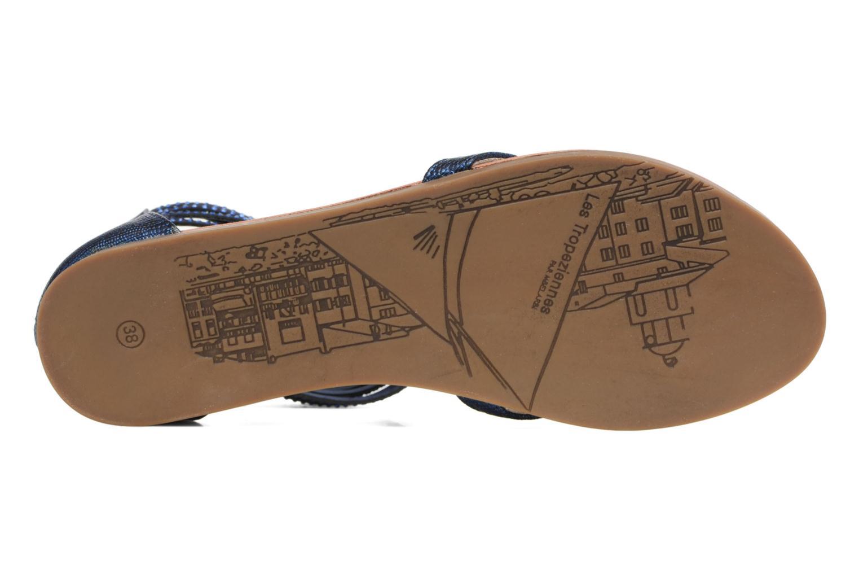 Sandales et nu-pieds Les Tropéziennes par M Belarbi Ginkgo Bleu vue haut