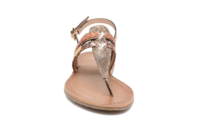 Sandali e scarpe aperte Les Tropéziennes par M Belarbi Baraka Oro e bronzo modello indossato