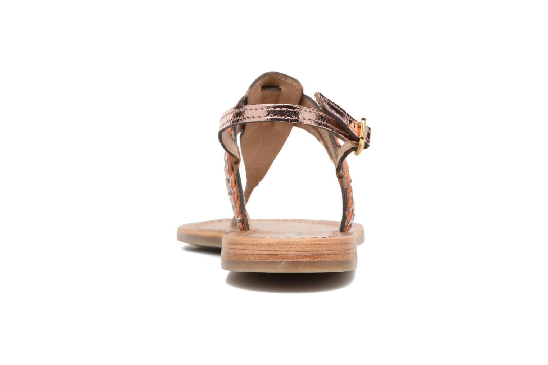 Sandali e scarpe aperte Les Tropéziennes par M Belarbi Baraka Oro e bronzo immagine destra