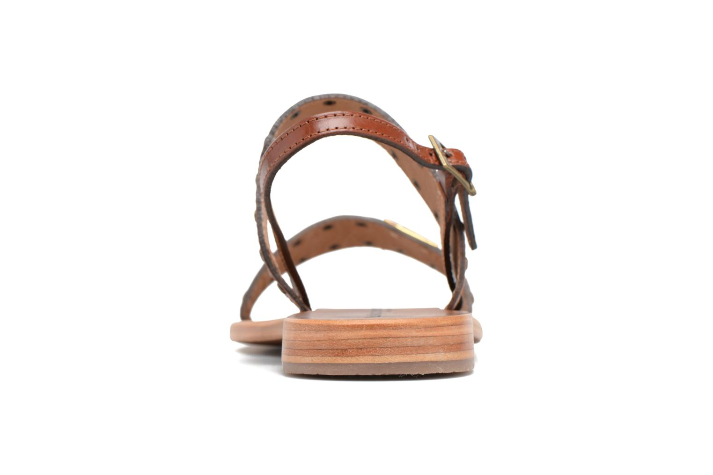 Sandales et nu-pieds Les Tropéziennes par M Belarbi Haude Marron vue droite