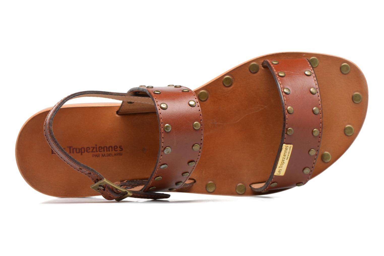 Sandales et nu-pieds Les Tropéziennes par M Belarbi Haude Marron vue gauche
