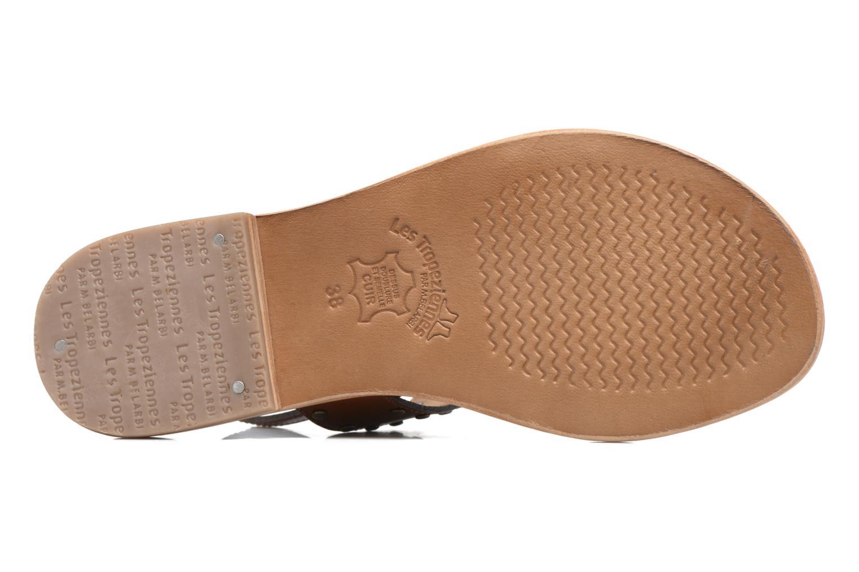 Sandales et nu-pieds Les Tropéziennes par M Belarbi Haude Marron vue haut