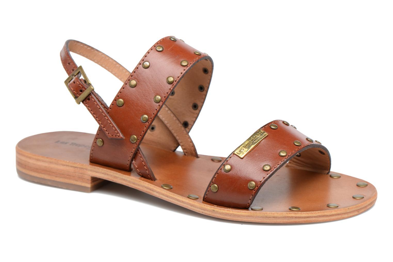 Sandales et nu-pieds Les Tropéziennes par M Belarbi Haude Marron vue détail/paire