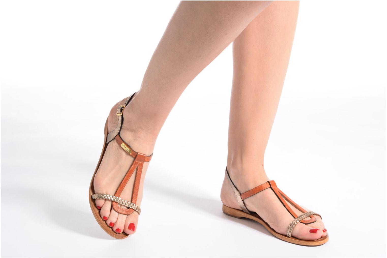 Sandales et nu-pieds Les Tropéziennes par M Belarbi Hatress Or et bronze vue bas / vue portée sac