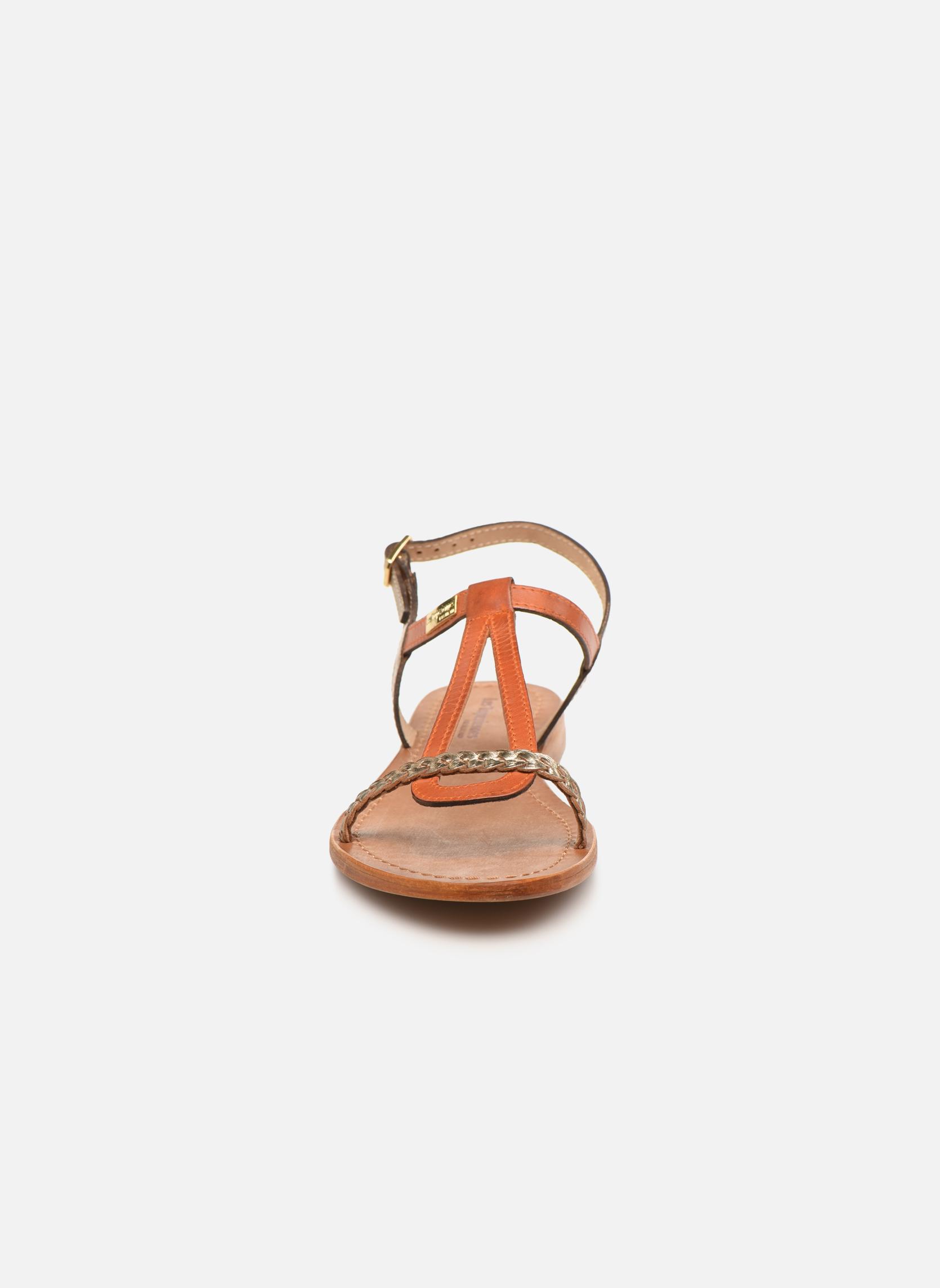 Sandales et nu-pieds Les Tropéziennes par M Belarbi Hatress Or et bronze vue portées chaussures