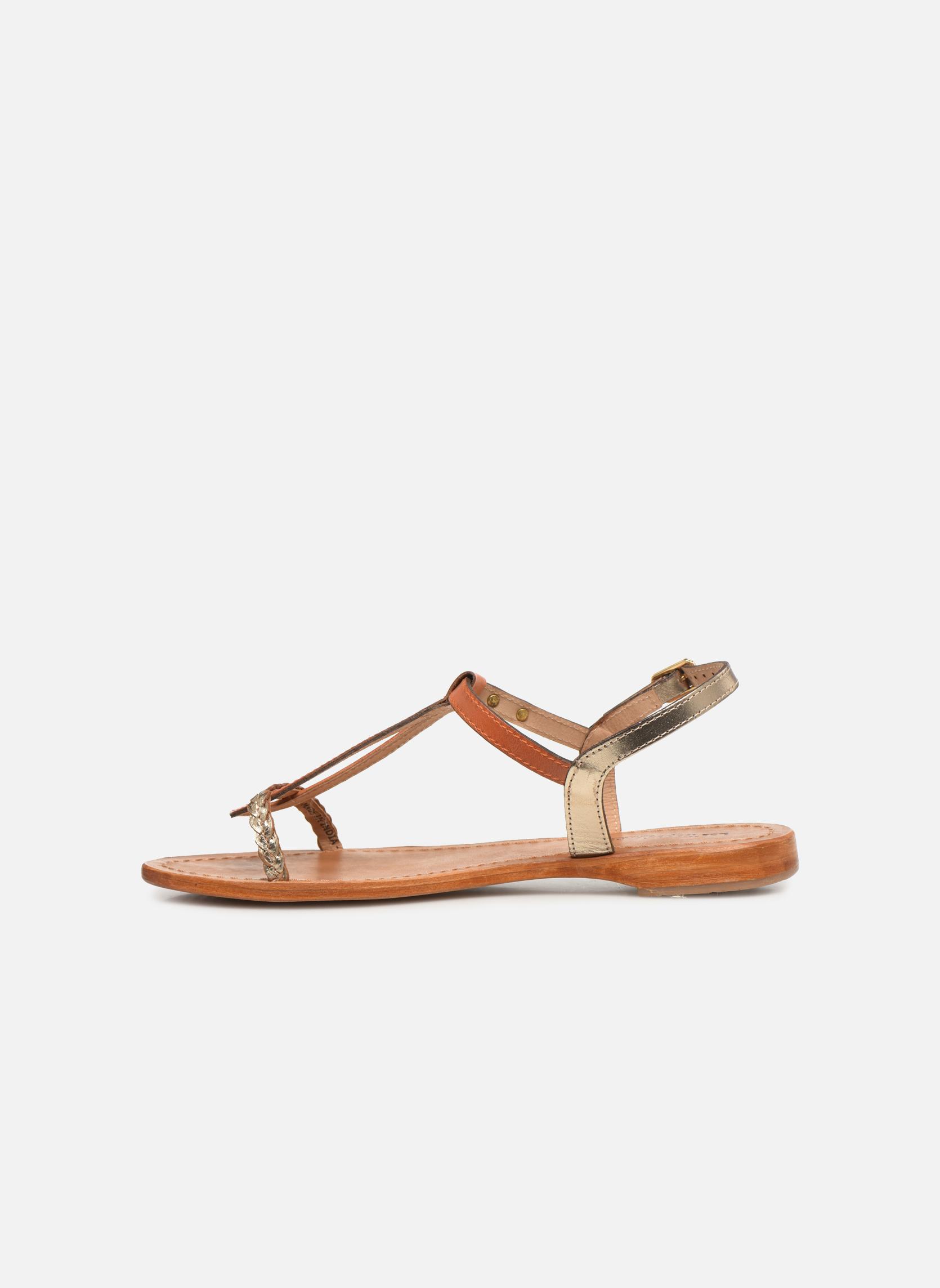 Sandales et nu-pieds Les Tropéziennes par M Belarbi Hatress Or et bronze vue face