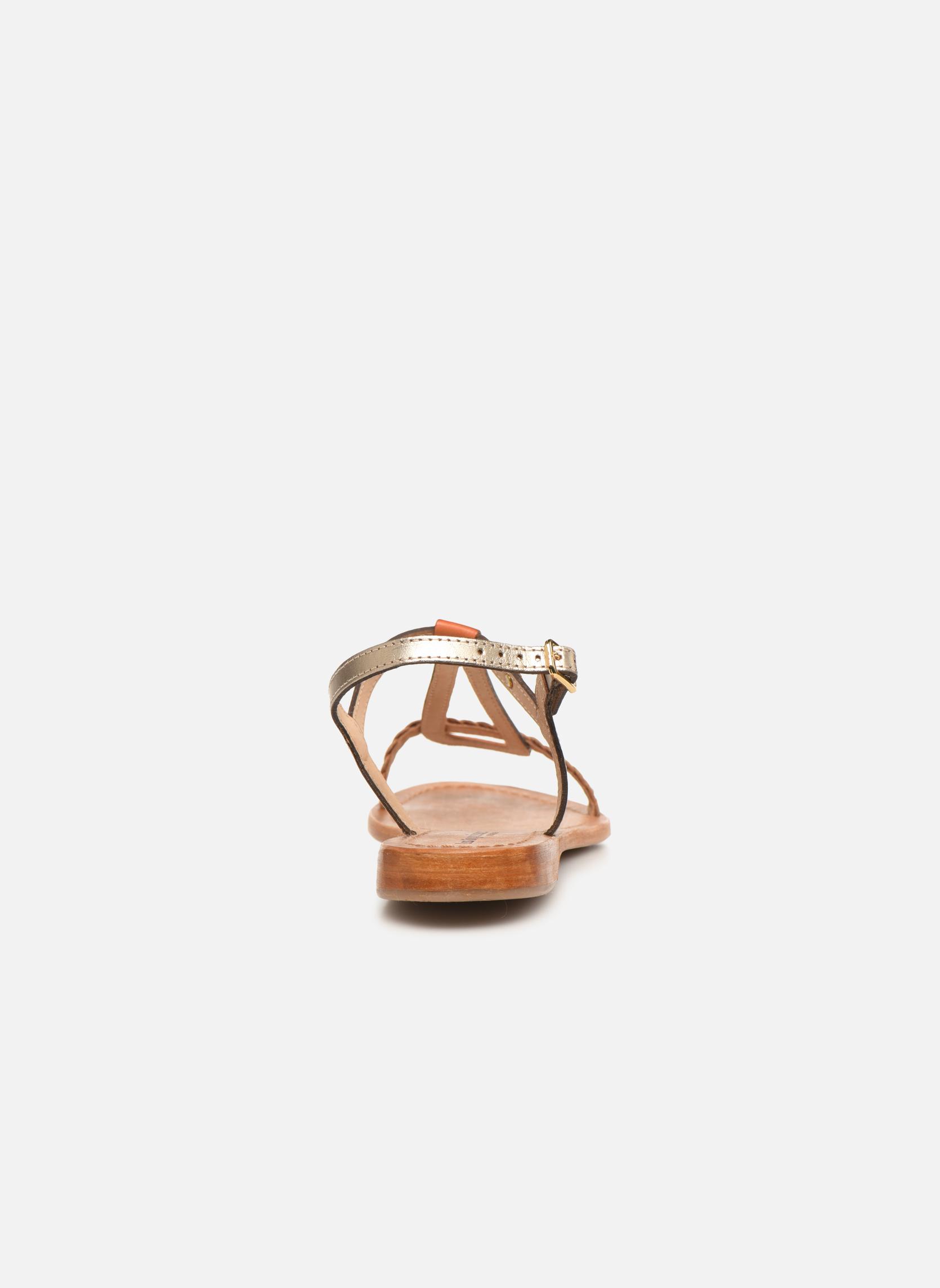 Sandales et nu-pieds Les Tropéziennes par M Belarbi Hatress Or et bronze vue droite