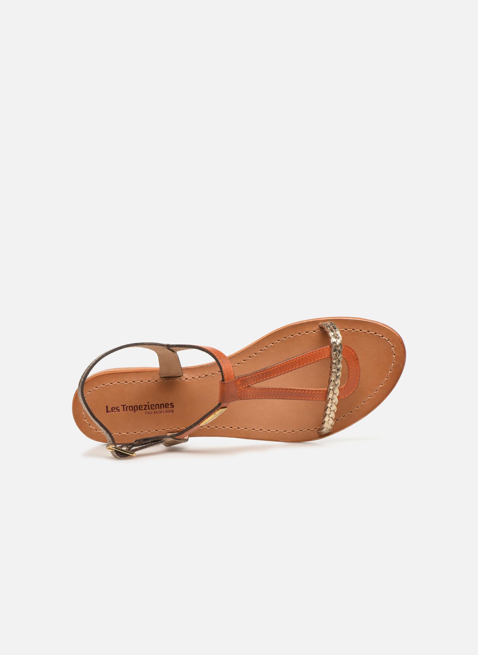 Sandales et nu-pieds Les Tropéziennes par M Belarbi Hatress Or et bronze vue gauche