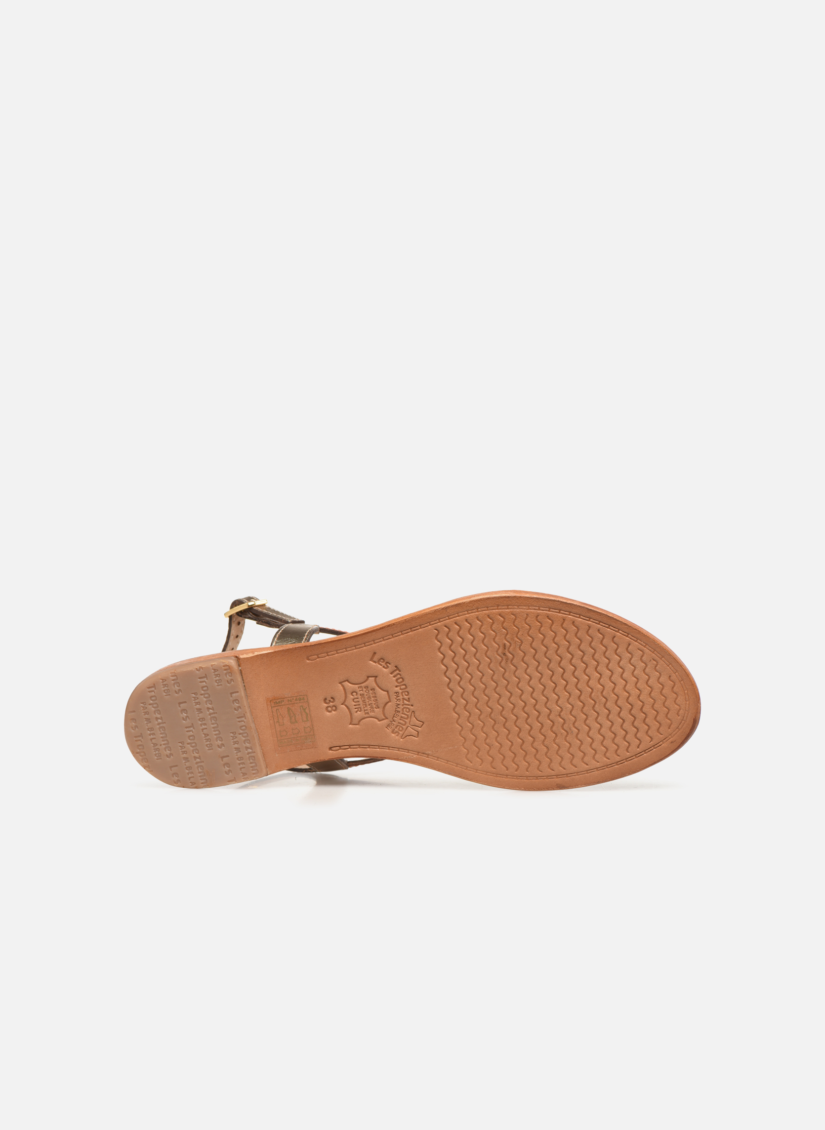 Sandales et nu-pieds Les Tropéziennes par M Belarbi Hatress Or et bronze vue haut