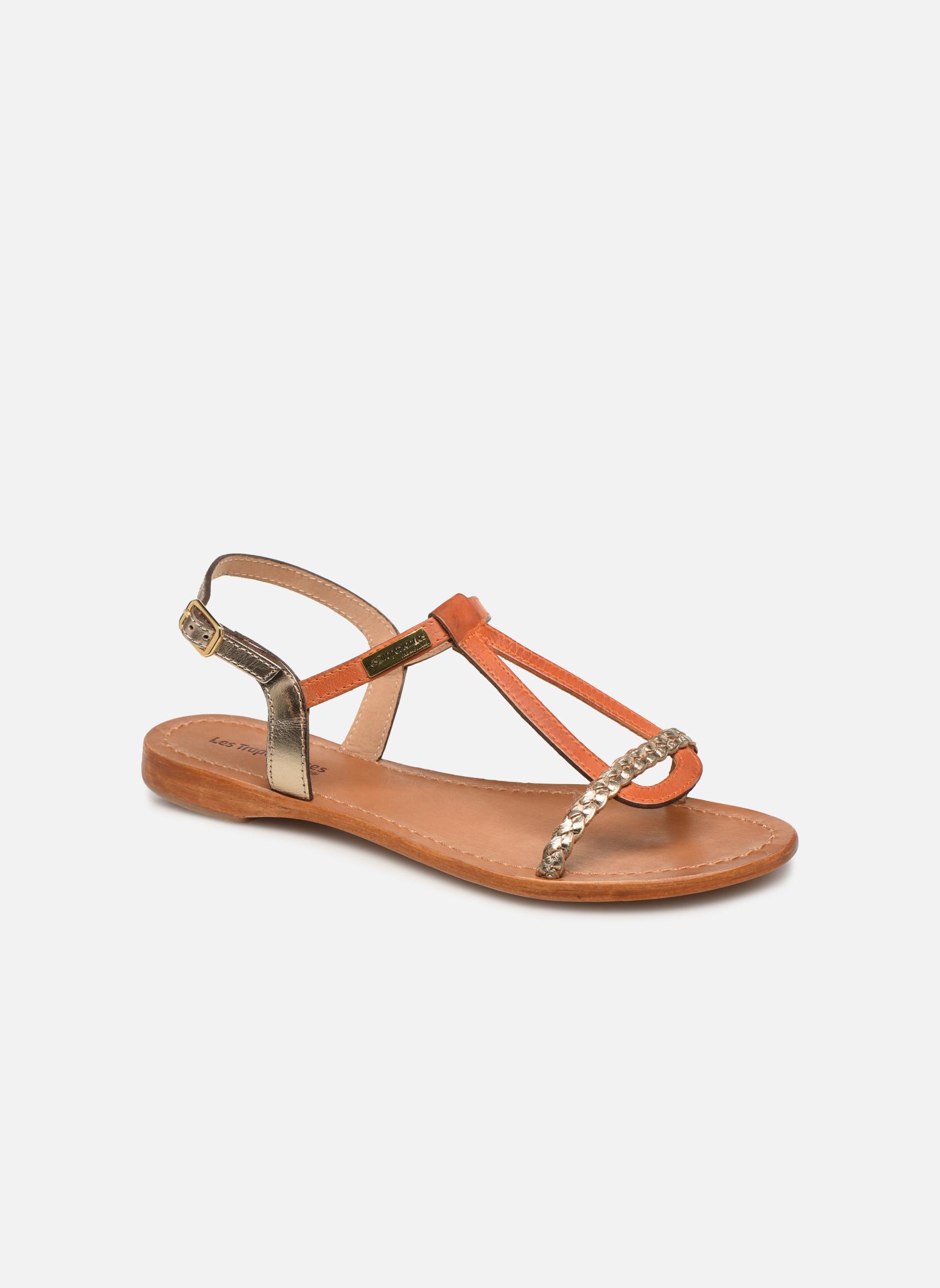 Sandales et nu-pieds Les Tropéziennes par M Belarbi Hatress Or et bronze vue détail/paire