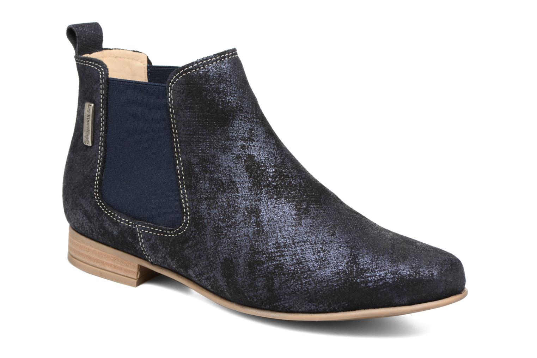 Bottines et boots Les Tropéziennes par M Belarbi Panama Bleu vue détail/paire