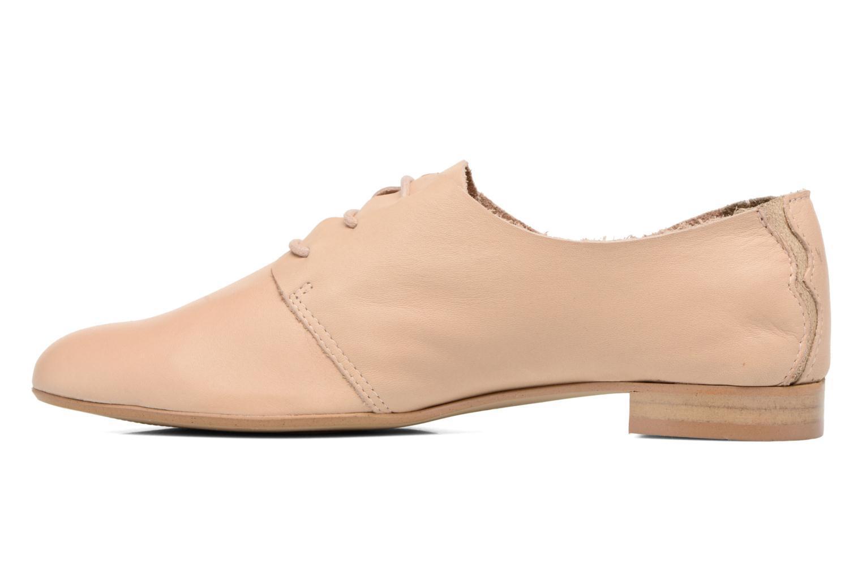 Chaussures à lacets Les Tropéziennes par M Belarbi Takarka Beige vue face