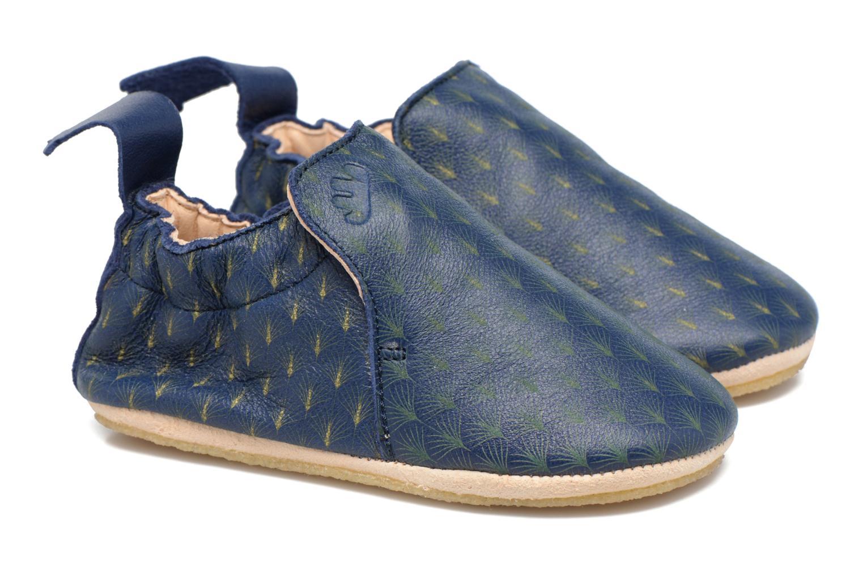 Chaussons Easy Peasy Blublu Feuille Bleu vue portées chaussures