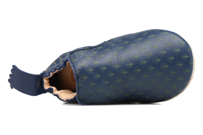 Chaussons Easy Peasy Blublu Feuille Bleu vue haut