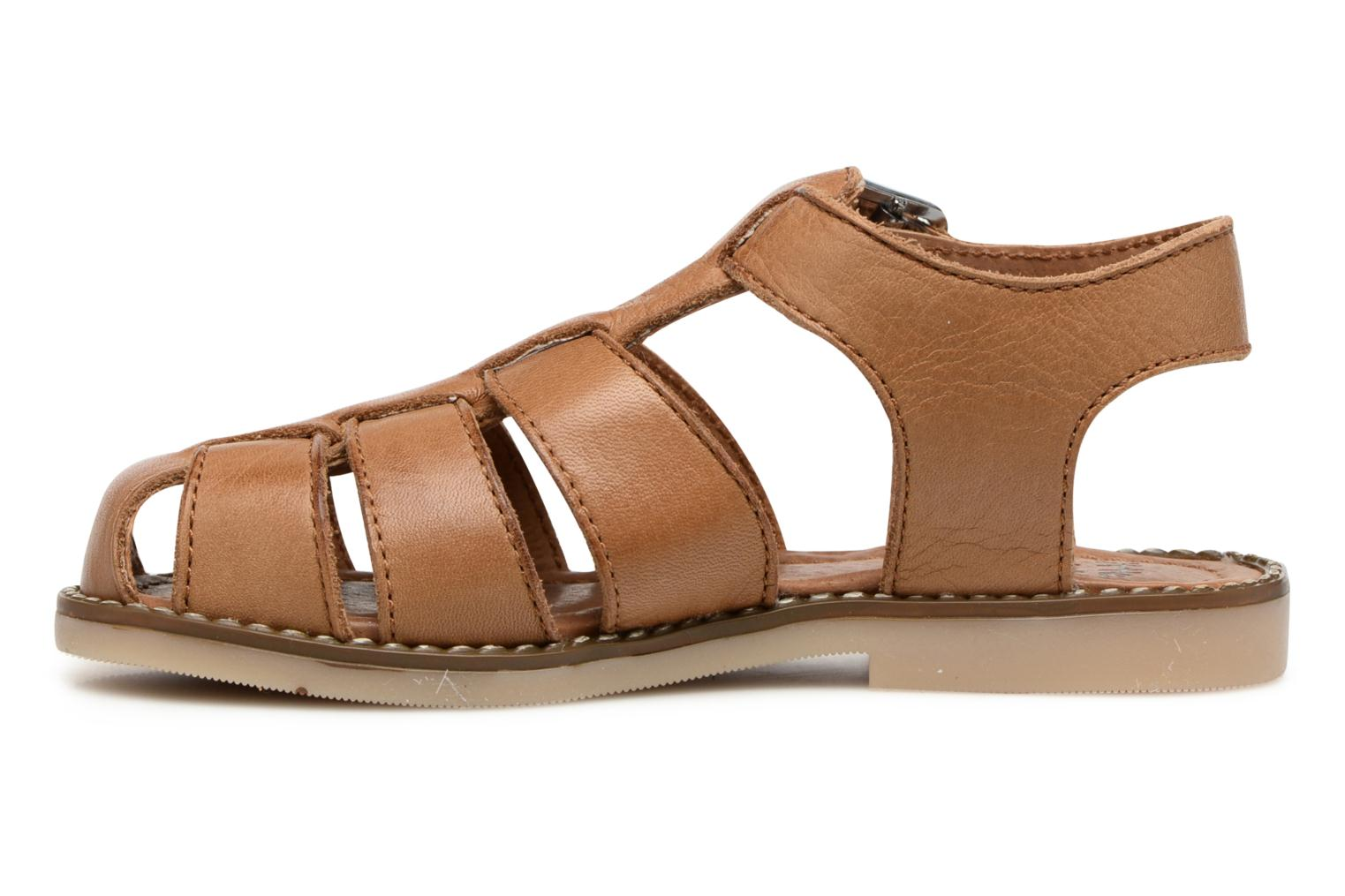 Sandales et nu-pieds Little Mary Brehat Marron vue face