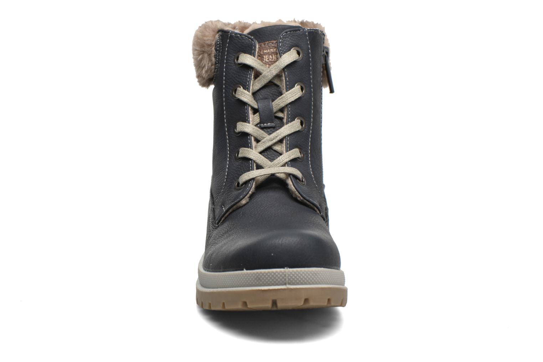 Bottines et boots Mustang shoes Aurelle Bleu vue portées chaussures