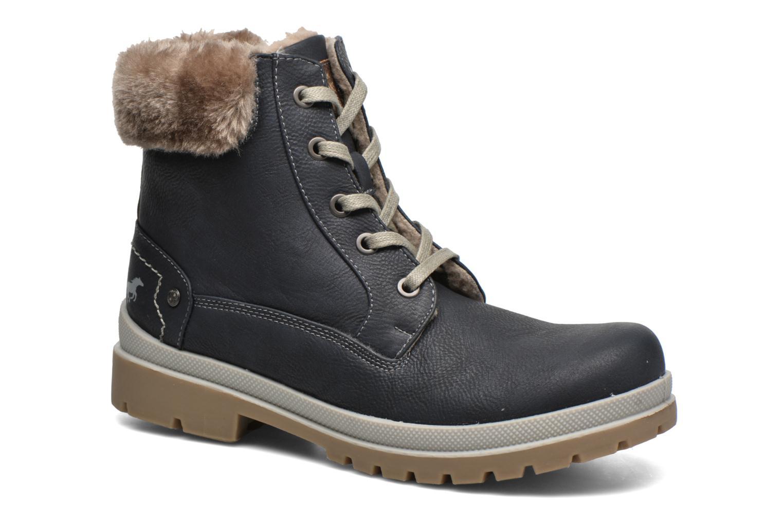 Bottines et boots Mustang shoes Aurelle Bleu vue détail/paire