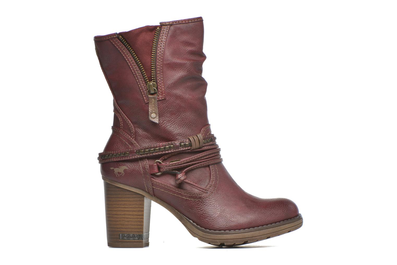Bottines et boots Mustang shoes Bérénice Bordeaux vue derrière