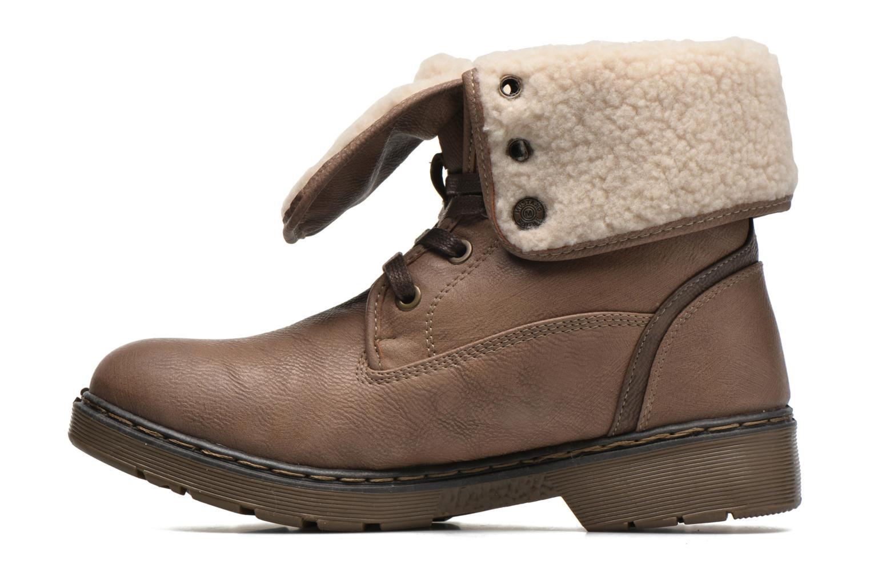 Bottines et boots Mustang shoes Betsy Beige vue face