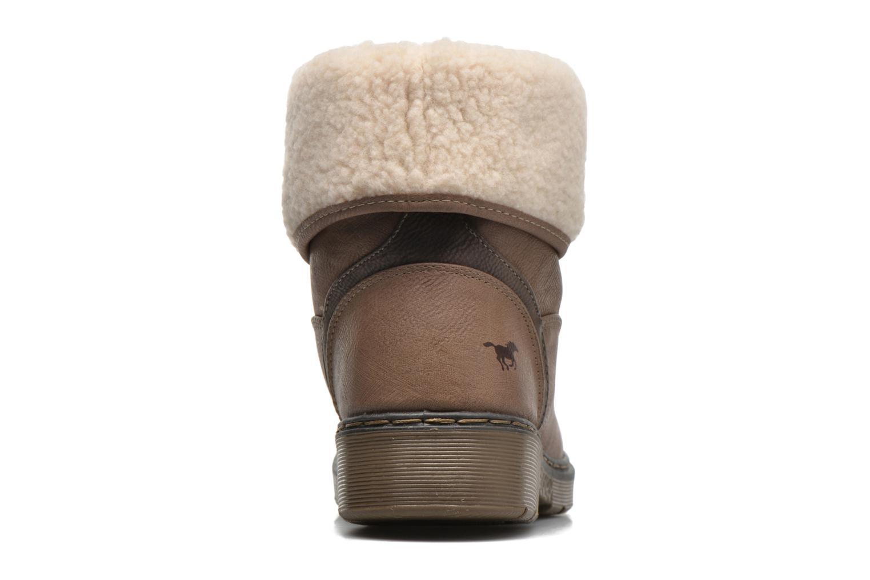 Bottines et boots Mustang shoes Betsy Beige vue droite