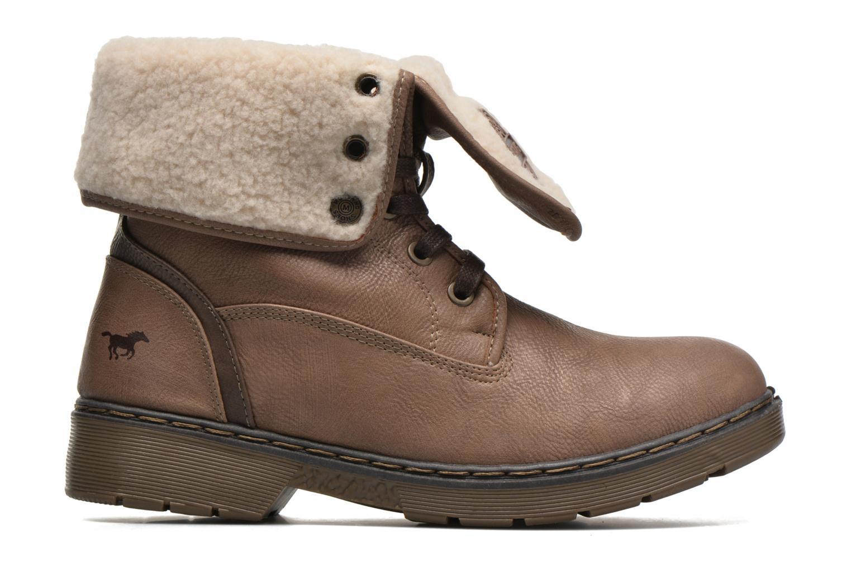 Bottines et boots Mustang shoes Betsy Beige vue derrière