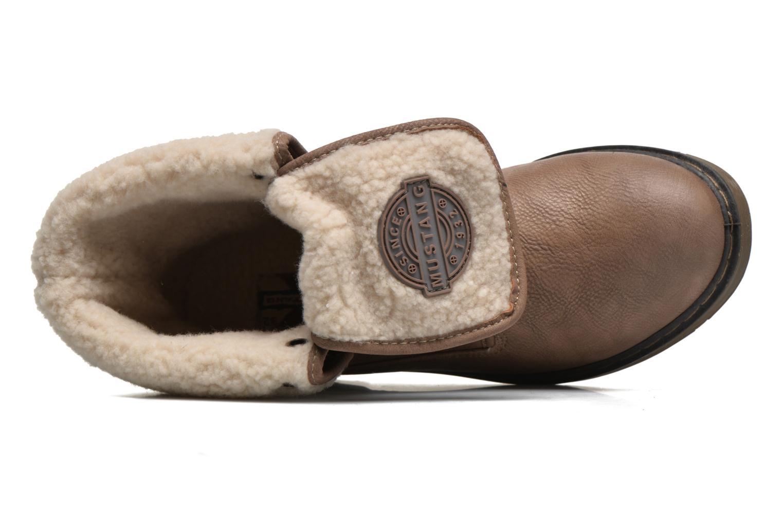 Bottines et boots Mustang shoes Betsy Beige vue gauche