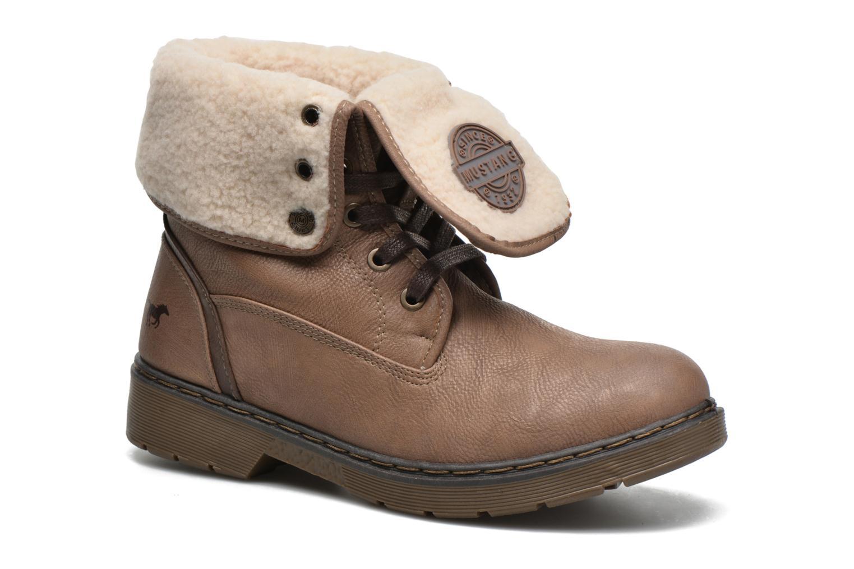 Bottines et boots Mustang shoes Betsy Beige vue détail/paire