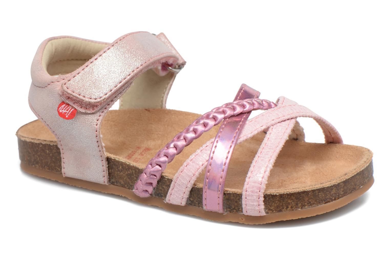 Sandales et nu-pieds NA! Aglaya Rose vue détail/paire