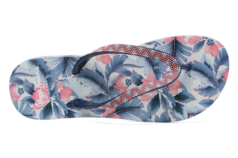 Tongs Pepe jeans Beach Caribe Bleu vue gauche