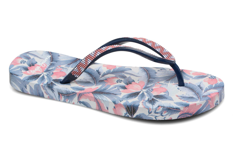 Tongs Pepe jeans Beach Caribe Bleu vue détail/paire