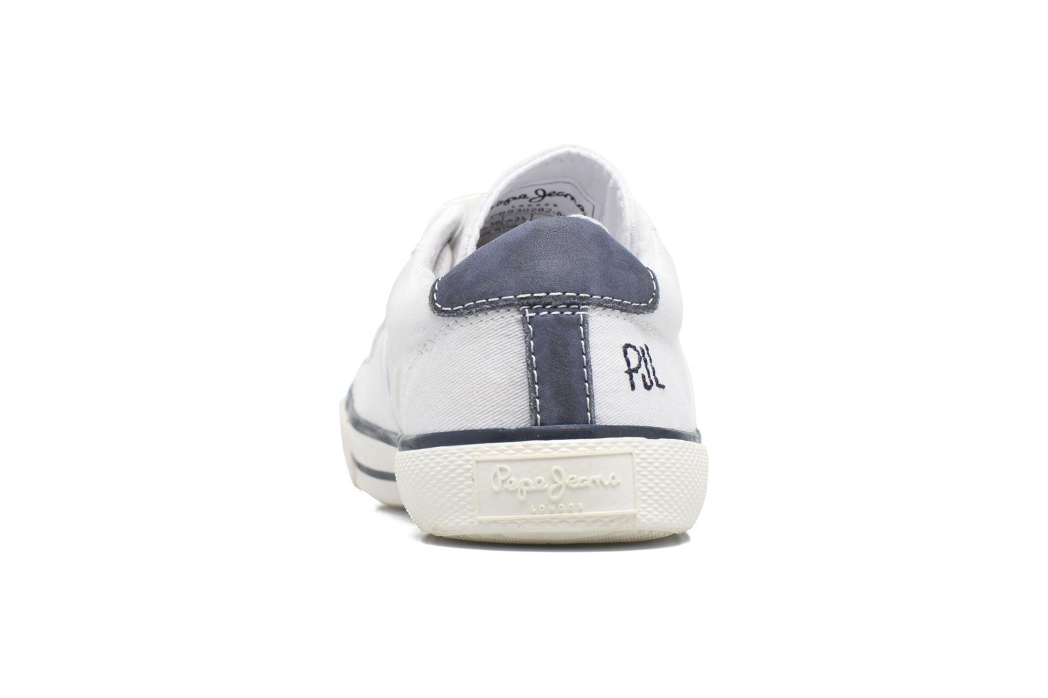 Trainers Pepe jeans Serthi Basic White view from the right