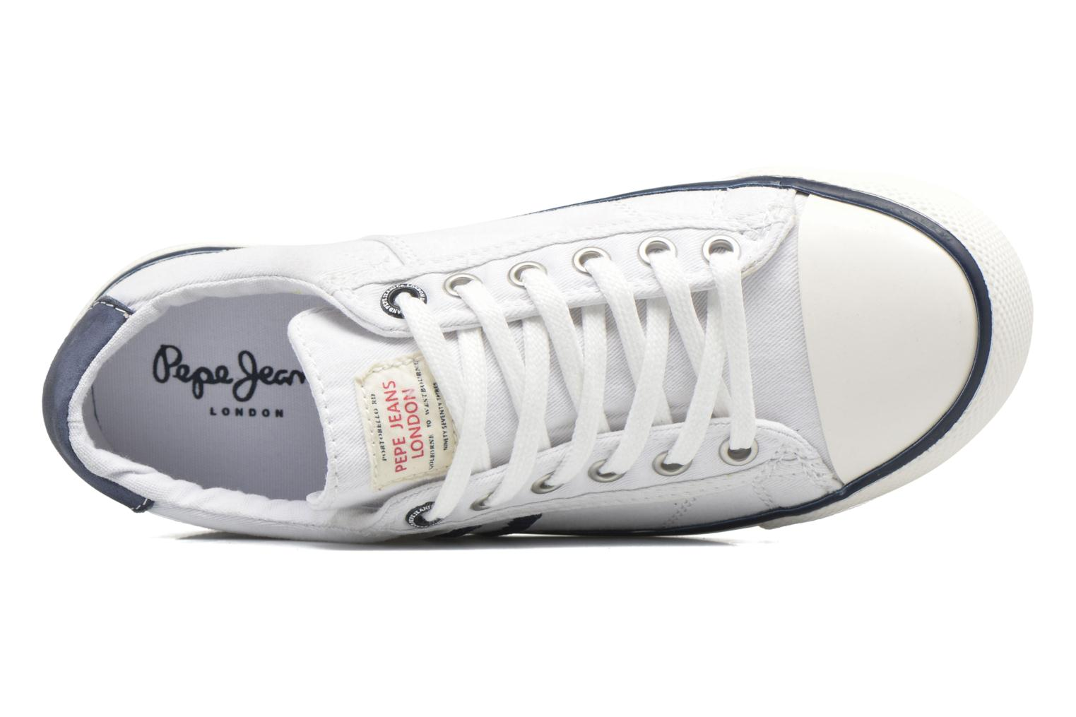 Trainers Pepe jeans Serthi Basic White view from the left