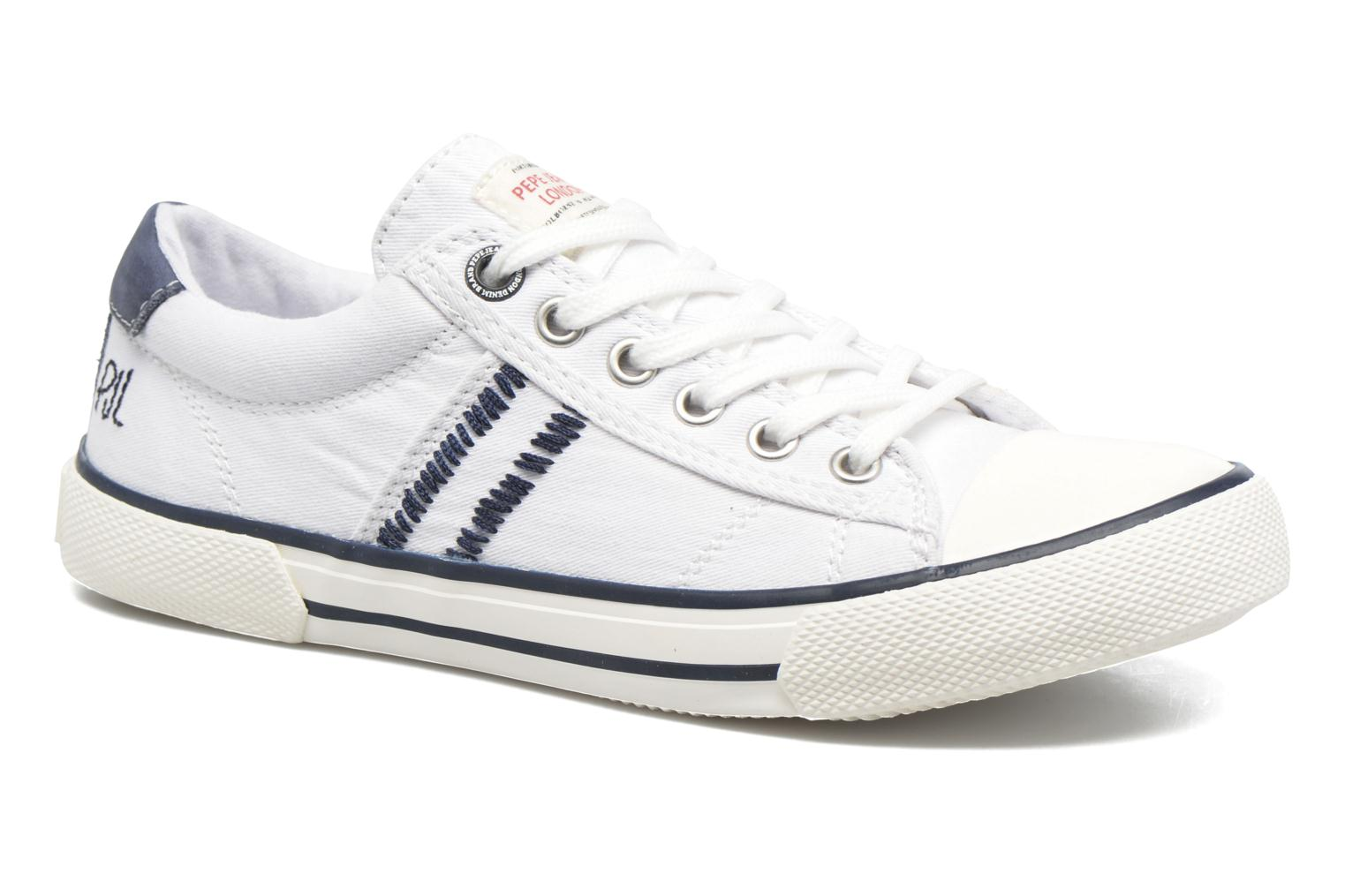 Trainers Pepe jeans Serthi Basic White detailed view/ Pair view
