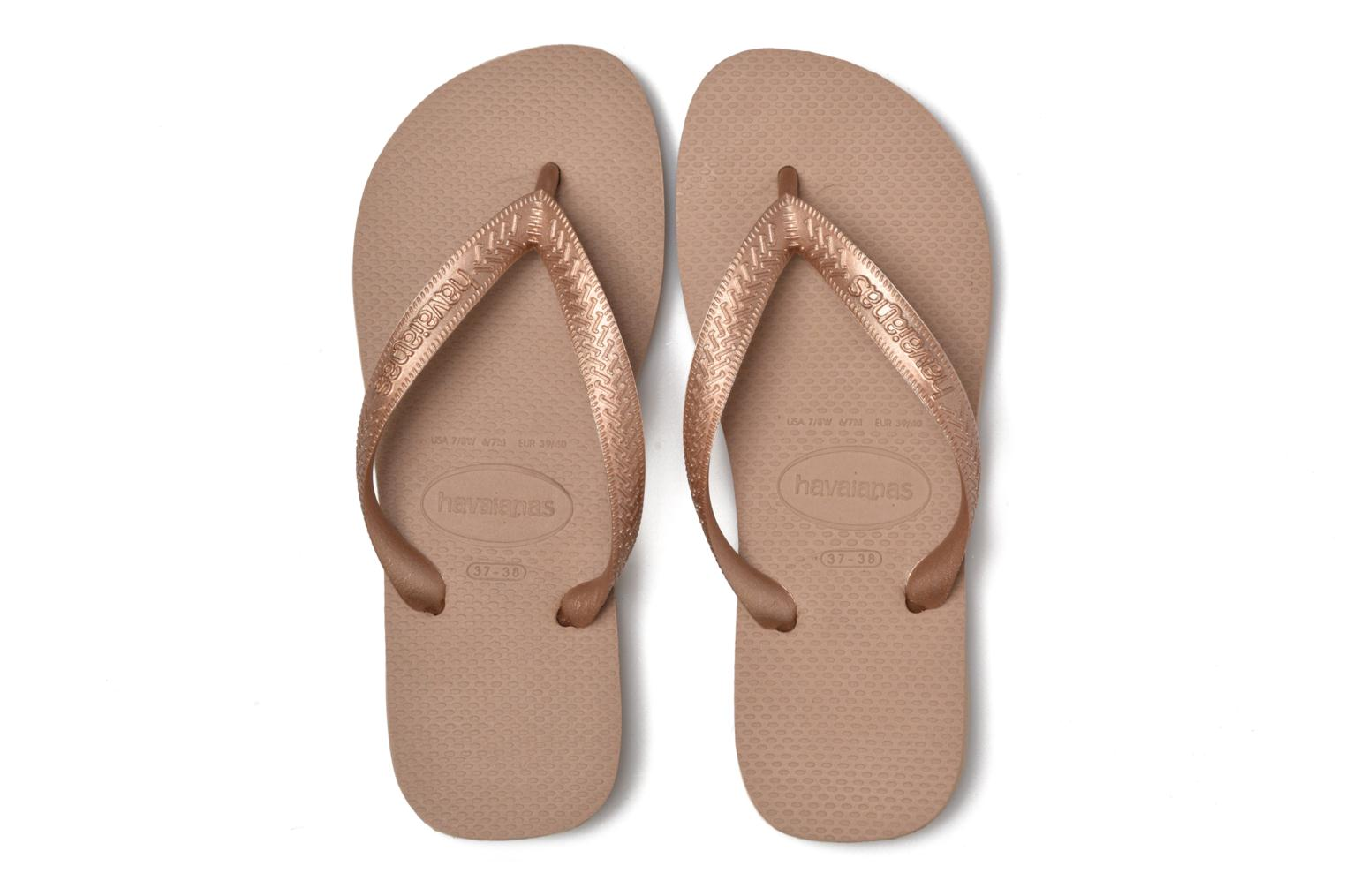 Flip flops Havaianas Top Tiras Brown 3/4 view