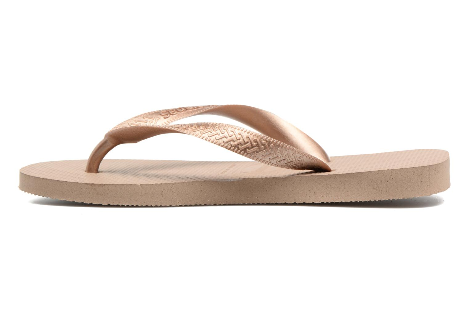 Chanclas Havaianas Top Tiras Marrón vista de frente
